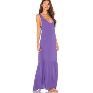 mara hoffman valentina purple dress